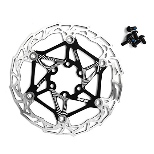 Zeker Stainless Steel Floating Bicycle Disc Brake 160MM Bike Rotor Mountain Cycling Parts Accessories (Black)