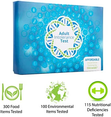 5Strands | Home Test Kit | 200 Food & 100 Environmental Intolerance Items Tested | Bonus 115 Nutritional Deficiencies | 415 Total Items | Hair Analysis | Results 1-2 Weeks | Adult Standard