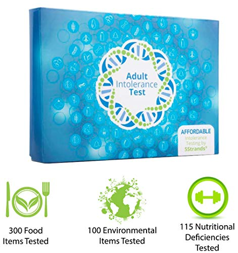 5Strands | Home Test Kit | 200 Food & 100 Environmental Intolerance Items Tested | Bonus 115 Nutritional Deficiencies | 415 Total Items | Hair Analysis | Results 1-2 Weeks | Adult Standard (Best Test For Gluten Intolerance)