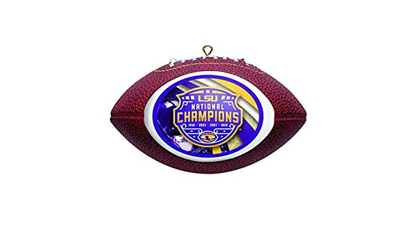Boelter Brands LSU Tigers 2019-2020 CFP National Champions White Glass Ornament