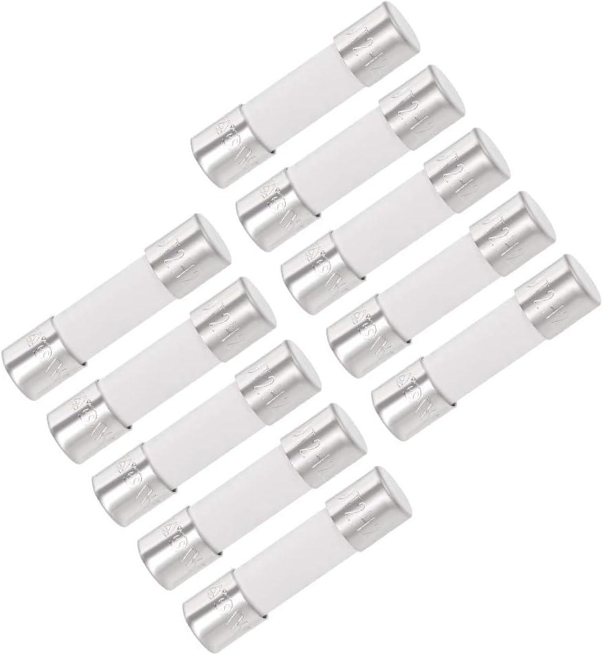 250 V de soplado r/ápido Repuesto para Amplificador de Coche Sourcingmap fusibles de Cartucho para autom/óvil Ahorro de energ/ía