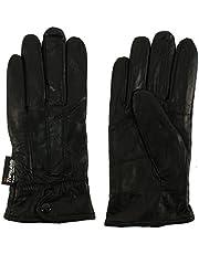 Ladies Winter 3M Thinsulate Soft Genuine Leather Wrist Snap Gloves Black