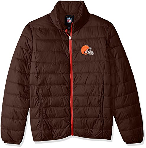 G-III Sports NFL Cleveland Browns Men's Skybox Full Zip Packable Jacket, Brown, Large (Jacket Mens G-iii)