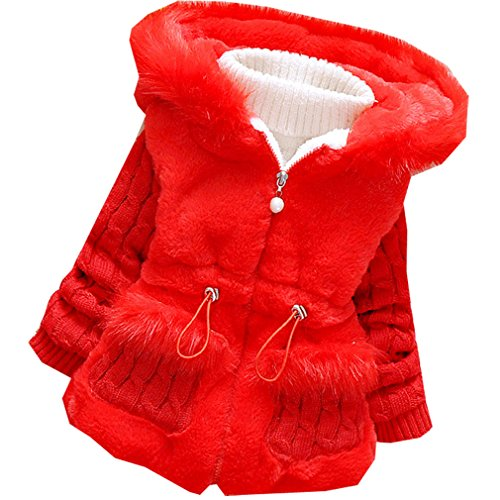 Kids Baby Girls Coat Winter Warm Jacket Outerwear