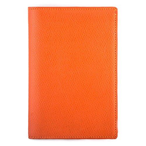 Francia Luxury a di vitello Pelle grana Business arancione Pelletteria Portafoglio RAwEqxOO