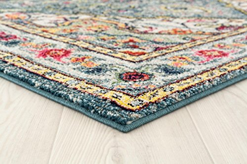 514 Blue Bohemian 8 x 10 Area Rug Carpet