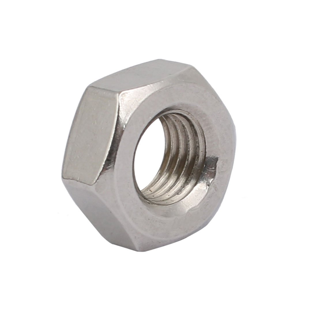 uxcell 4pcs M10 x 1.25mm Pitch Metric Fine Thread 304 Stainless Steel Hex Nuts