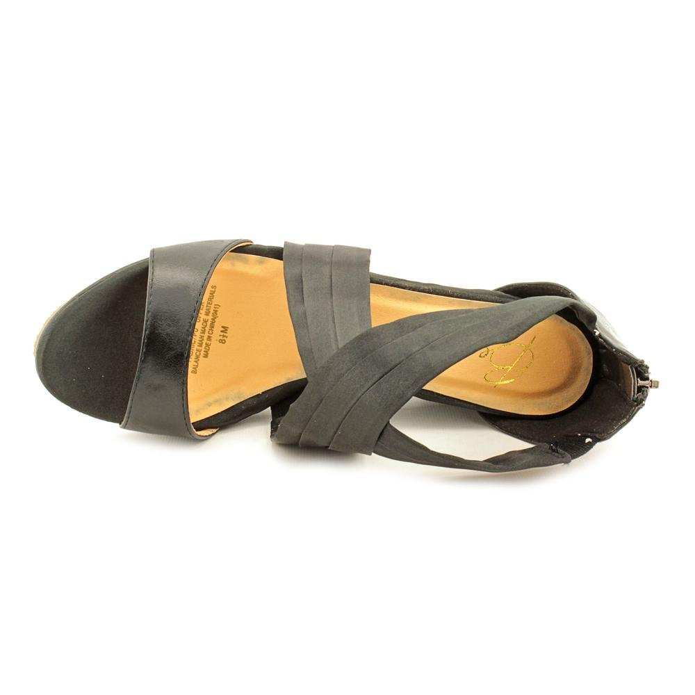 Beacon Womens Aana Criss Open Toe Casual Ankle B(M) Strap Sandals B00DJBW6AY 10 B(M) Ankle US|Black 8055d5