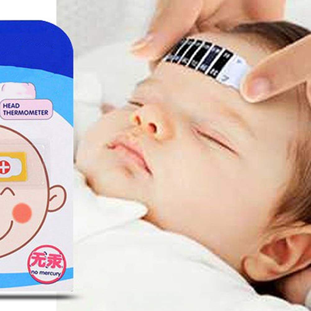 Baby Forehead Thermometer Strips Reusable Safe Infant Baby Thermometers Bendable Fever Check Temperature Test Strips