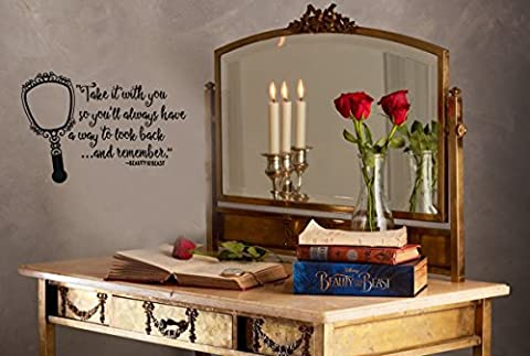 Inspired by Beauty and the Beast Wall Decal Sticker A way to look back and remember (Beauty Beast Decal)
