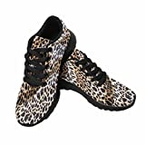 InterestPrint Women's Trail Running Shoes Jogging Lightweight Walking Athletic Sneakers Tiger Leopard Cheetah Pattern Fabric 10 B(M) US