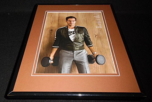 Roger Federer Framed Photo (Roger Federer 2017 Nike Workout Framed 11x14 Photo Display)