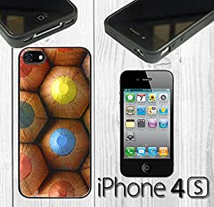 Colorful Pencils Custom made Case/Cover/skin FOR iPhone 4/4s - Black - Rubber Case ( Ship From CA) by runtopwell