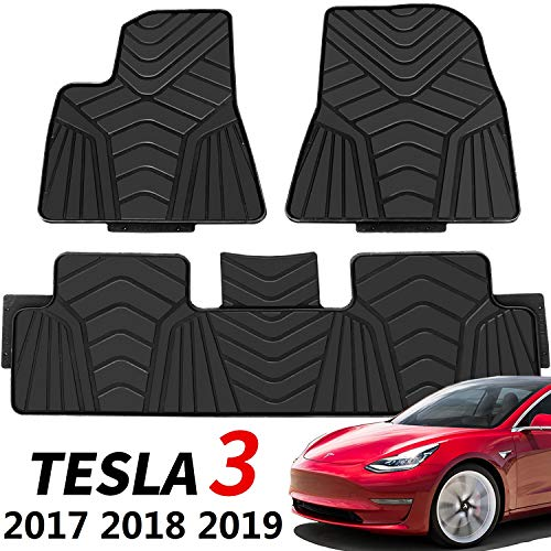 Red and Black All Weather Protector 4 piece set AutoTech Zone Custom Fit Heavy Duty Custom Fit Car Floor Mat for 2015-2018 Lincoln MKC SUV
