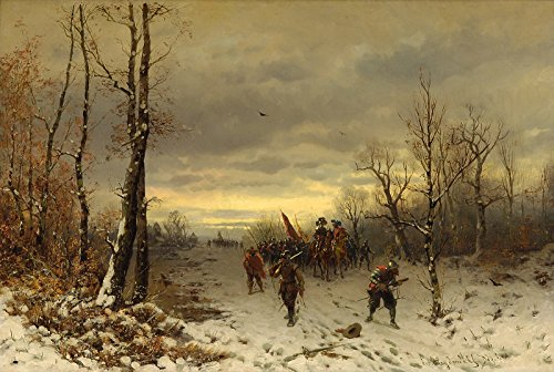 - Joseph Heydendahl Scene from The Thirty-Year war Painting - Oil on Canvas 30