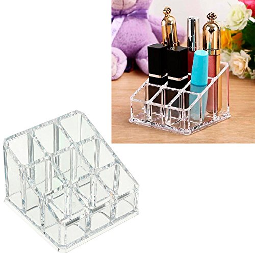 1 Vanity Cosmetic Organizer Lipstick Lipgloss Acrylic Clear Brush Makeup Display
