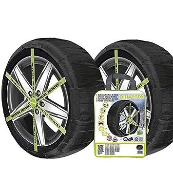 DRIVETEX-560 Juego 2 cadenas textiles coche homologación GS/TUV / ONORM V5121: Amazon.es: Coche y moto