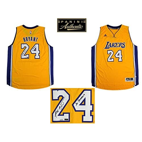 23a0a6e27ee hot sale 2017 Kobe Bryant Autographed Signed Los Angeles Lakers Adidas Gold  Swingman NBA Jersey