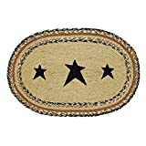VHC Brands Classic Country Primitive Tabletop & Kitchen - Kettle Grove Tan Stencil Star Jute Placemat Set of 6