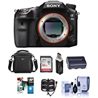 Sony a99 II Full Frame Translucent Mirror DSLR Camera, - Bundle With 32GB SDHC Card, Camera Case, Spare Battery, Memory Wallet, Card Reader, Cleaning Kit, Software Package