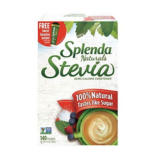 SPLENDA Naturals No Calorie Stevia Sweetener, Single-Serve Packets (140 Count)