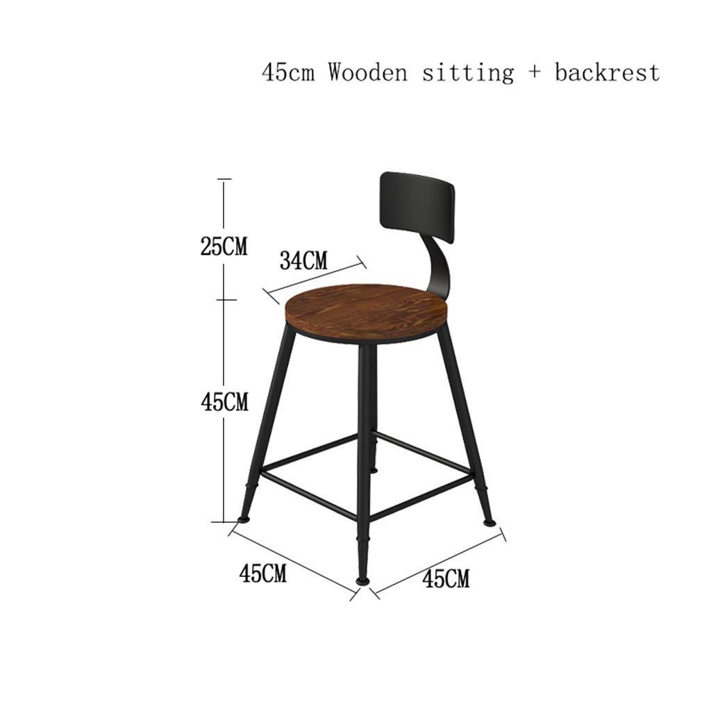 tabouret de cuisine comptoir barre de comptoir bar petit d/éjeuner hauteur 45 cm // 65 cm // 75 cm // 80 cm // 85 cm S Tabouret de chaise jambe de si/ège en bois massif avec tabouret r/étro en m/étal
