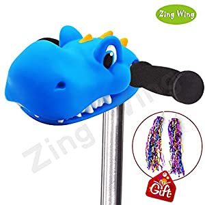 ziwing Dinosaur Toys Gifts for Boys,Kids T-Bar Kick Scooter Bike Pogo Stick Accessories Unicorn Pony Horse Dinosaur Head for Boys Girls Kids Gifts Presents