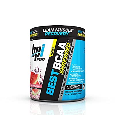 BPI Sports Best BCAA Shredded Caffeine Free Thermogenic Recovery Formula for Lean Muscle Growth, Fruit Punch, 50 servings