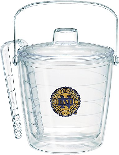 (Tervis 1275230 Notre Dame Fighting Irish Seal Ice Bucket with Emblem and Clear Lid 87oz Ice Bucket, Clear)