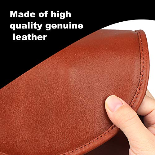 Handmade Genuine Leather Pipe Tobacco Pouch Bag Organize Case Pipe Tool lighter Holder Pocket for 2 pipe Vintage Unisex (Brown(lacing )) by Unknown (Image #3)
