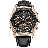 Forsining Men's Self winding Original Automatic Tourbillion Calendar Leather Strap Wrist Watch FSG340M3T3