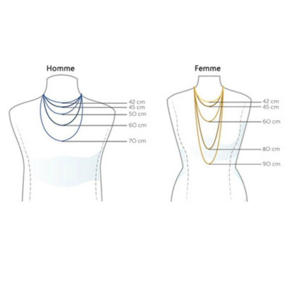 9aff3d01a27b Cadena cuello malla Forçat 40 cm - Plata Maciza 925 °  Amazon.es  Joyería