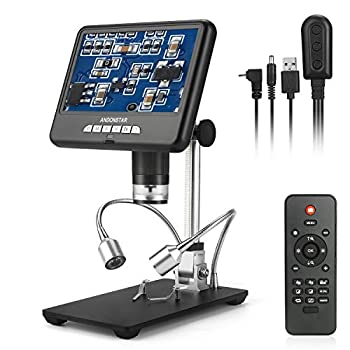 Image of Andonstar Digital Microscope AD207 with 7 inch LCD Display and 3D Visual Effects for Circuit Board Repair