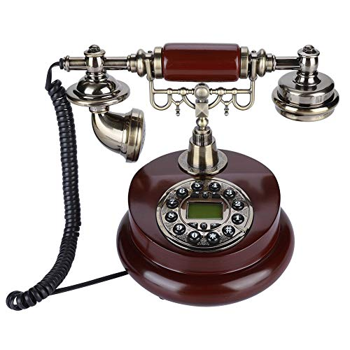 Diyeeni Retro Vintage Telephone Pause/redial Function Retro Vintage Wired Corded Telephone Landline FSK/DTMF Telephone Line Powered with Anti-Slip mat,Suitable for Hotel Office Home from Diyeeni