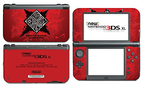 Monster Hunter Generations X XX 4 Ultimate Fire Red Video Game Vinyl Decal Skin Sticker Cover for the New Nintendo 3DS XL LL 2015 System Console (Nintendo 3ds Xl Monster Hunter 4 Ultimate Edition)