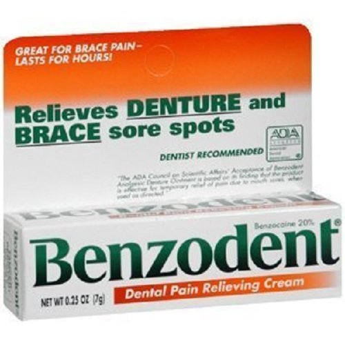 Benzodent RDC08232001 Dental Pain Relieving Cream, 3 Count