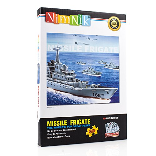 NimNik Ships Frigate 3D Puzzles for Kids Educational Fun Construction 3d Jigsaw Puzzle for Adults, Boys, Girls and Teenagers. Perfect Gift Ideas - 48 - 3d Glasses Limited Edition Avengers