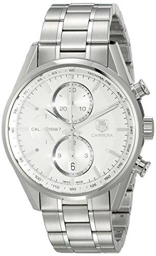 TAG Heuer Men's CAR2111.BA0720 Carrera Silver Dial Chronograph Steel Watch