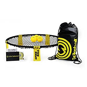 Spikeball 3 Ball Game Set - Includes Playing Net, 3 Balls, Drawstring Bag, And Rule Book - Outdoor Lawn Sports Ball Game Played in Yard Beach, Family Toy Game - As Seen On Shark Tank TV