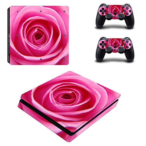 Adventure Games – PS4 SLIM – Rose, Pink – Playstation 4 Vinyl Console Skin Decal Sticker + 2 Controller Skins Set