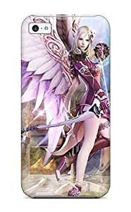 Flexible Tpu Back Case Cover For Iphone 5c - Aion Fantasy Cg Archer Girl