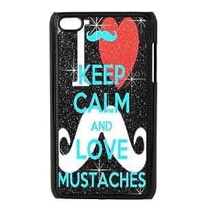 Clzpg Unique Design Ipod Touch 4 Case - Moustache diy shell phone case