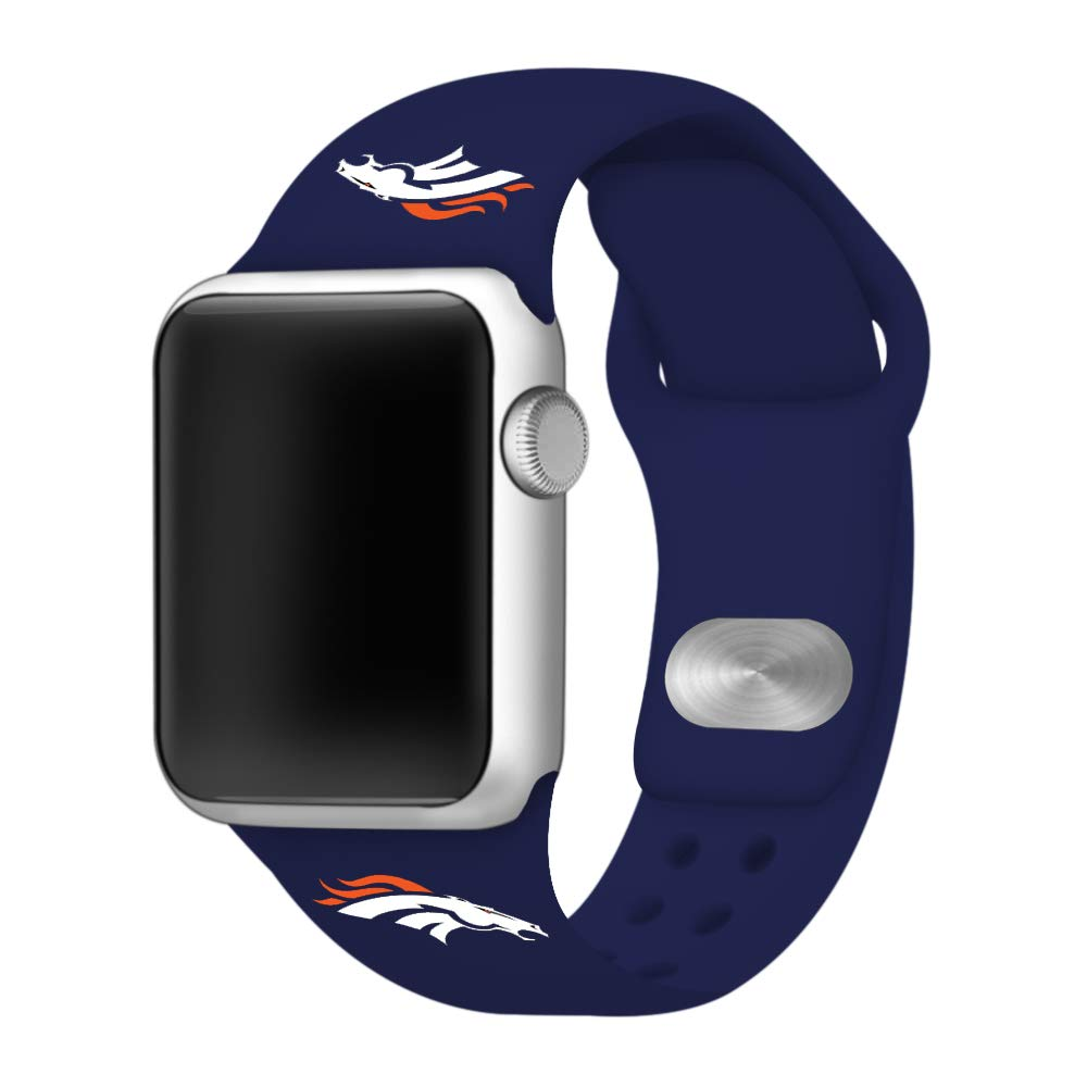 Game Time Denver Broncos Silicone Sport Band Compatible with Apple Watch - Band ONLY (42mm/44mm)