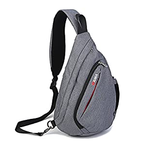 Fengju Sling Backpacks Travel Backpack Crossbody Bag Sling Bag Chest Bag gray