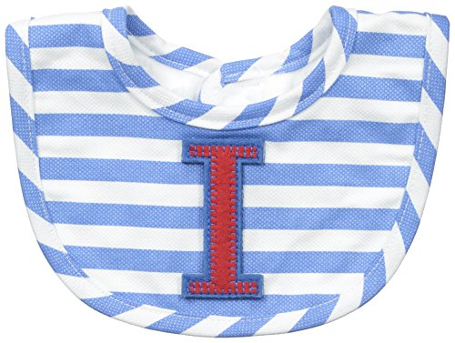 Mud Pie Baby-Boys Newborn I Initial Boy Bib, Blue, One Size (Initial Baby Bib)