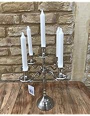 Home Deco London LTD 5 Arm Aluminium Candelabra Candle Stick Holder Centerpiece Dinner Table Wedding