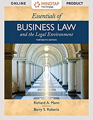 MindTap Business Law for Mann/Roberts' Essentials of Business Law and the Legal Environment - 6 months - 13th Edition [Online Courseware]