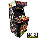 """4 Player Upright Arcade Machine with 3,016 Games in 1 32"""" Monitor Trackballs"""