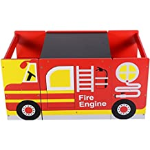 Generic NV_1008003792_YC-US2 BoardDes Set Toddler den T Kids Fire Truck Design & Cha Play Study t Tod Wooden Table & Chair Play Drawing Board Kids Fi