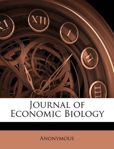 Journal of Economic Biology Volume 7-8 ebook